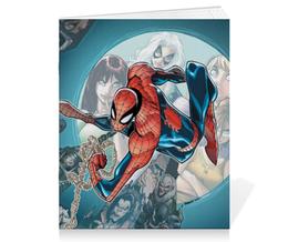 "Тетрадь на скрепке ""Человек-паук (Spider-man)"" - комиксы, spider-man, марвел, человек-паук, питер паркер"