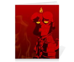 """Тетрадь на скрепке """"Хеллбой"""" - комиксы, демон, hellboy, хеллбой, dark horse comics"""