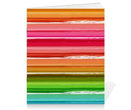 """Тетрадь на скрепке """"Радуга"""" - узор, радуга, рисунок, полосатый, красочный"""