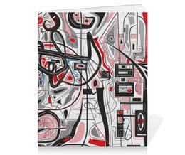 "Тетрадь на скрепке ""Mamewax"" - арт, узор, абстракция, фигуры, медитация"