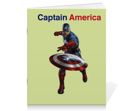 "Тетрадь на скрепке ""Captain America"" - marvel, марвел, капитан америка, captain america"