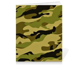 """Тетрадь на скрепке """"Военный-Камуфляж"""" - military, камуфляж, camo, военный"""