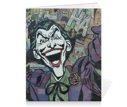"Тетрадь на скрепке ""Джокер"" - joker, комиксы, batman, джокер, бэтмен"