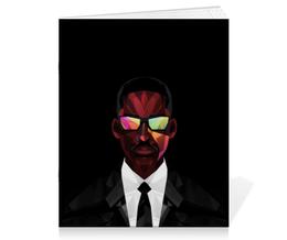 """Тетрадь на скрепке """"Уилл Смит (Will Smith)"""" - уилл смит, люди в черном, фокус, я-легенда"""
