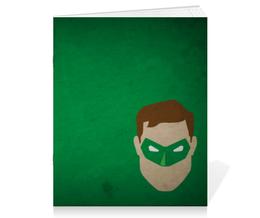 """Тетрадь на скрепке """"Зеленый фонарь"""" - комиксы, dc, green lantern, dc comics"""
