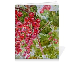 """Тетрадь на скрепке """"Красная смородина"""" - рисунок, природа, смородина, красная смородина"""