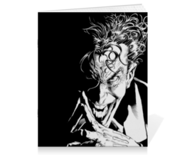 "Тетрадь на скрепке ""Джокер"" - джокер, бэтмен, комиксы, dc comics, joker"