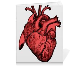 """Тетрадь на скрепке """"Реалистичное сердце"""" - врач"""