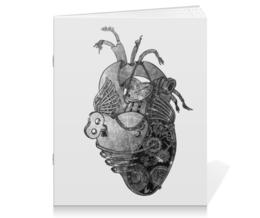 """Тетрадь на скрепке """"Механическое сердце"""" - сердце, арт, рисунок, i love me, i love you"""