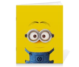 "Тетрадь на скрепке ""Миньон"" - жёлтый, миньон, гадкий я, minion"