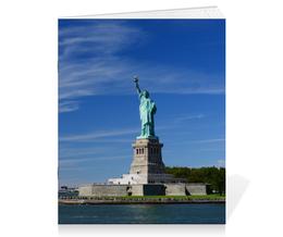 """Тетрадь на скрепке """"Статуя Свободы"""" - нью-йорк, америка, статуя свободы"""