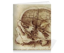 """Тетрадь на скрепке """"Анатомический череп"""" - череп, анатомия, анатомический череп"""