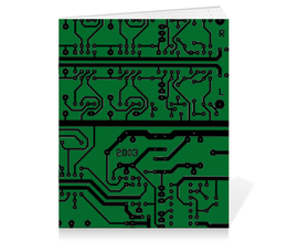 "Тетрадь на скрепке ""Электроника"" - дизайн, техника, наука, электроника"