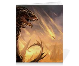 "Тетрадь на скрепке ""Дракон"" - дракон, dragon, варвар, barbarian"