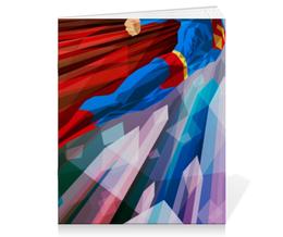 "Тетрадь на скрепке ""Супермен (Superman)"" - комиксы, супермэн, dc, dc comics, супс"