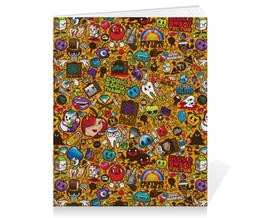 "Тетрадь на скрепке ""Stickers"" - арт, style, стиль, дизайн, графика"