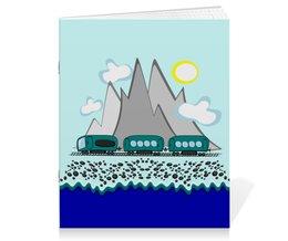 """Тетрадь на скрепке """"Путешествие на поезде вдоль моря и гор"""" - отдых, россия, сочи, отпуск, хочу на море"""