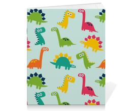 """Тетрадь на скрепке """"Динозаврики"""" - животные, динозавр"""