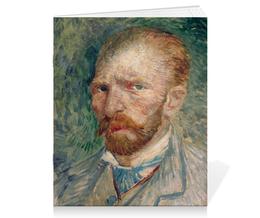 "Тетрадь на скрепке ""Винсент ван Гог (автопортрет)"" - картина, ван гог"