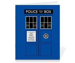 """Тетрадь на скрепке """"ТАРДИС"""" - doctor who, tardis, доктор кто, тардис"""