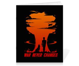 """Тетрадь на скрепке """"Fallout. War never changes"""" - игры, fallout, геймерские, war never changes"""