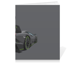 "Тетрадь на скрепке ""Lamborghini Veneno"" - машина, ламборгини, ламборджини"