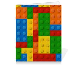 """Тетрадь на скрепке """"Конструктор Лего"""" - рисунок, детский, игрушка, конструктор, лего"""
