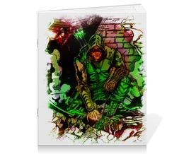 """Тетрадь на скрепке """"Pop Art"""" - арт, комиксы, dc, зеленая стрела"""