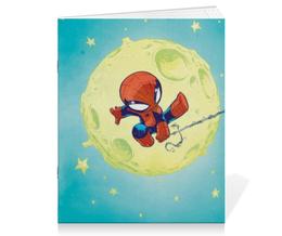 "Тетрадь на скрепке ""Человек-паук (Spider-man)"" - комиксы, spider man, человек паук, марвел, питер паркер"