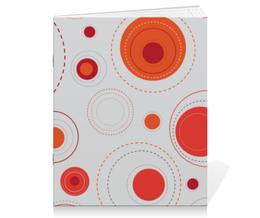 """Тетрадь на скрепке """"Круглые абстракции"""" - стиль, рисунок, круги, абстрактный, круглый"""