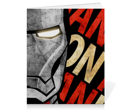 "Тетрадь на скрепке ""Железный человек"" - марвел, железный человек, iron man, tony stark, тони старк"