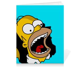 "Тетрадь на скрепке ""Гомер Симпсон"" - simpsons, homer, прикольные, гомер симпсон, симпспоны"