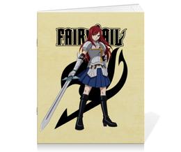 "Тетрадь на скрепке ""Эрза Скарлет. Fairy Tail"" - аниме, манга, fairy tail, хвост феи, эрза скарлет"