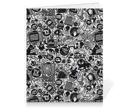 """Тетрадь на скрепке """"Стикеры """" - арт, дизайн, мило, стикер, стикеры"""