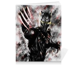 """Тетрадь на скрепке """"Чёрная пантера / Black Panther"""" - рисунок, комиксы, пантера, марвел"""