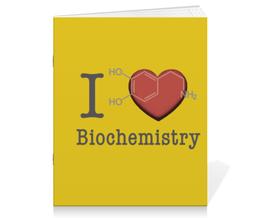 """Тетрадь на скрепке """"Биохимия счастья"""" - счастье, английский, крыса, биохимия, biochemistry"""