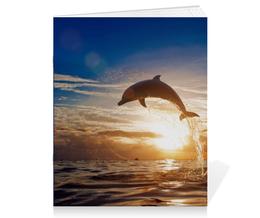 """Тетрадь на скрепке """"Дельфин"""" - природа, фотография, дельфин"""