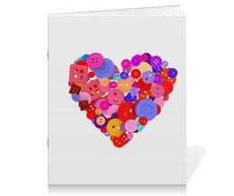 """Тетрадь на скрепке """"День всех влюбленных"""" - любовь, день святого валентина, валентинка, i love you, день влюбленных"""