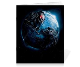 """Тетрадь на скрепке """"Чужой против Хищника / Alien vs Predator"""" - хищник, рисунок, кино, чужой"""