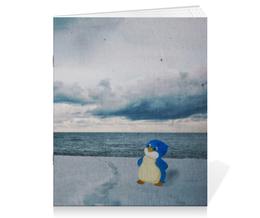 """Тетрадь на скрепке """"Пингвинёнок Лоло"""" - арт, ссср, россия, лоло, пингин"""