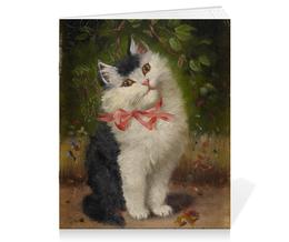 """Тетрадь на скрепке """"Котёнок (Софи Шперлих)"""" - картина, шперлих"""