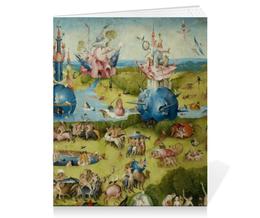 """Тетрадь на скрепке """"Сад земных наслаждений"""" - картина, сад, искусство, босх"""