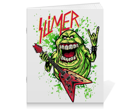 "Тетрадь на скрепке ""Лизун/Slayer"" - юмор, slayer, охотники на привидений, thrash metal, ghost busters"