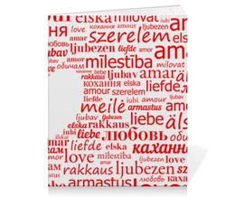"""Тетрадь на скрепке """"Романтическая"""" - сердце, любовь, слова"""