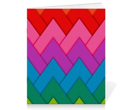 """Тетрадь на скрепке """"Papercraft style"""" - полосы, абстракция, геометрия, линии, papercraft"""