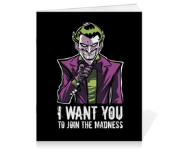 "Тетрадь на скрепке ""Джокер"" - joker, комиксы, джокер, бэтмен, отряд самоубийц"