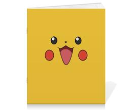 """Тетрадь на скрепке """"Pikachu"""" - для детей, pokemon, покемон, пикачу, pikachu"""
