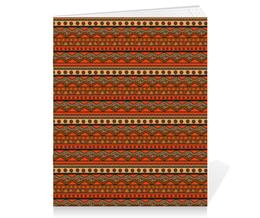 """Тетрадь на скрепке """"Абстрактный этнический"""" - узор, орнамент, абстракция, этнический"""