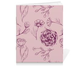 "Тетрадь на скрепке ""Осенний сад "" - арт, pink, осенний сад"