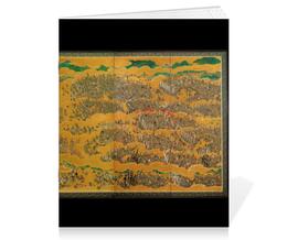 """Тетрадь на скрепке """"Летняя осакская кампания"""" - картина, япония, битва"""
